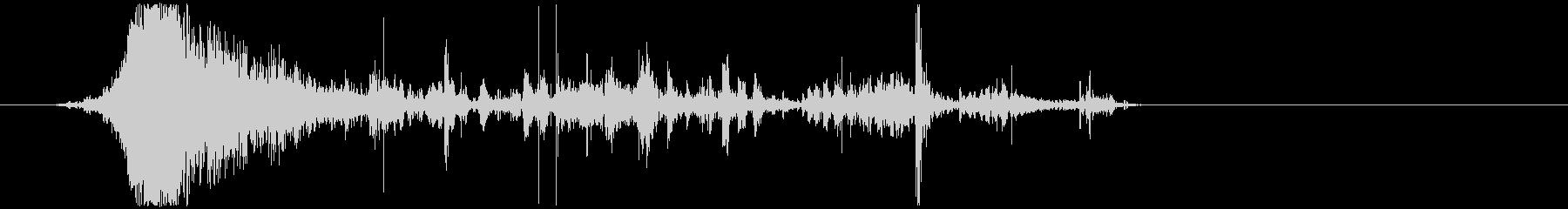 ジュバガブ!ネチャ…フゴ(噛みつき咀嚼)の未再生の波形