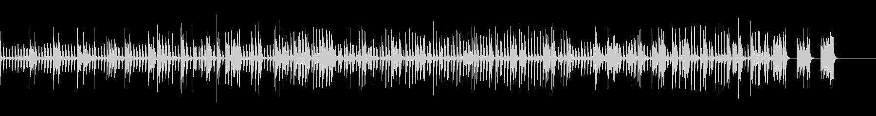 ピアノのみクラブ・バー風のJAZZの未再生の波形
