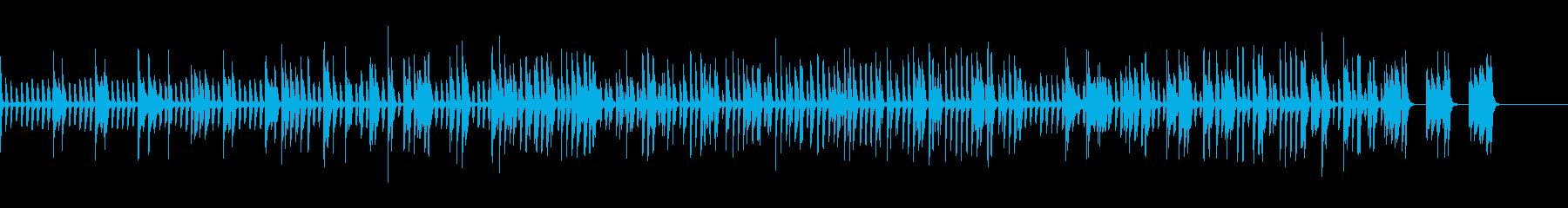 ピアノのみクラブ・バー風のJAZZの再生済みの波形