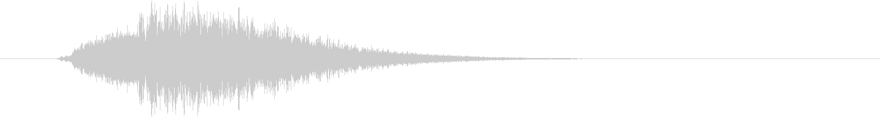 効果音 不思議な音 Aの未再生の波形