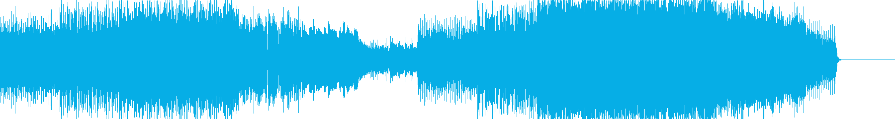 エレクトロニカ・曲後半で感動展開の再生済みの波形