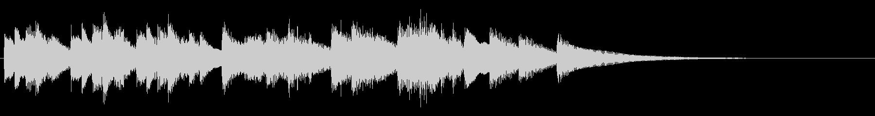 ソロピアノの穏やかなジングルの未再生の波形