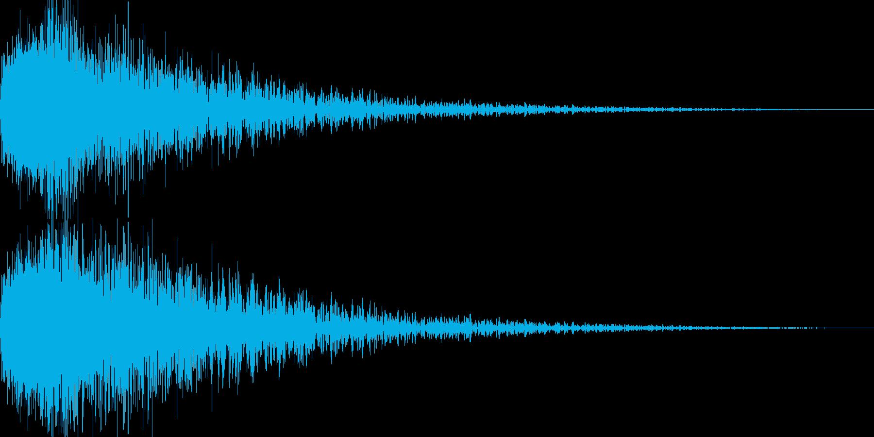 恐怖1(「ギャン…」という怖い音)の再生済みの波形