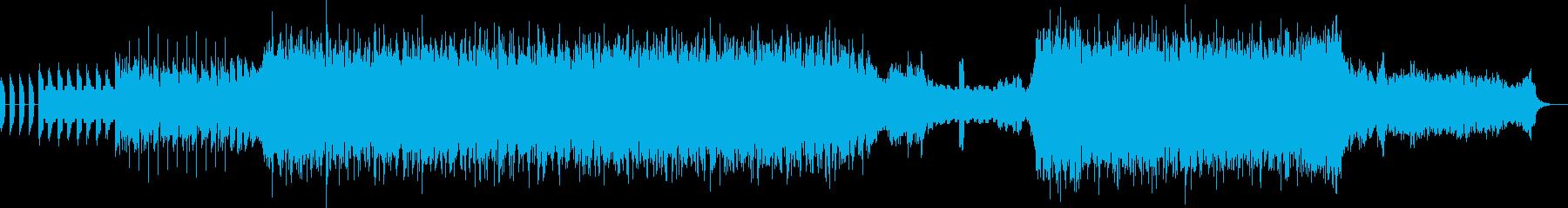 謎の変異体Xとの戦いを表現した曲の再生済みの波形