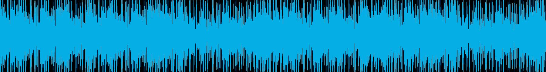 和風でノリの良いループ楽曲の再生済みの波形