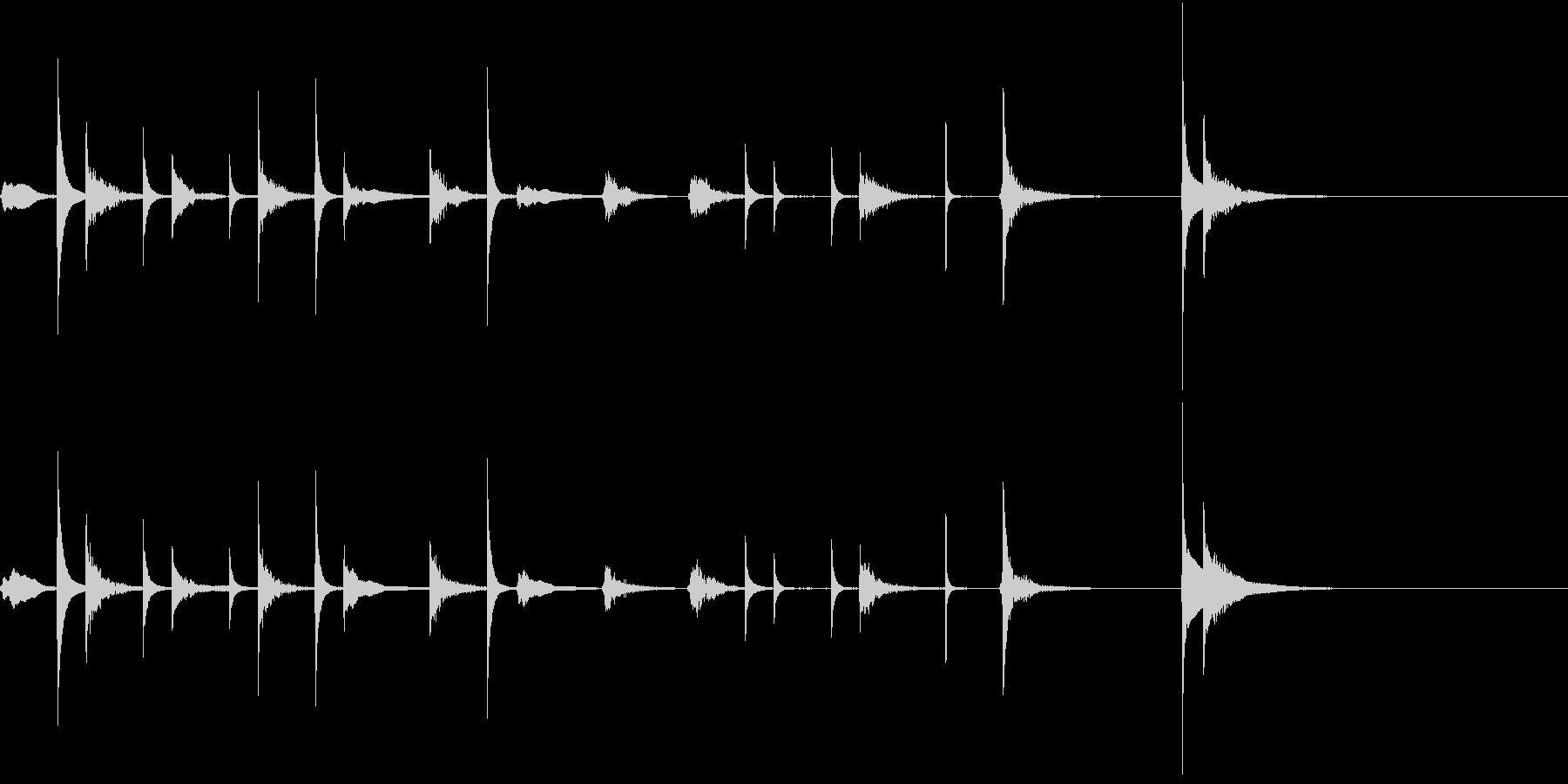 マリンバの可愛らしいジングルの未再生の波形