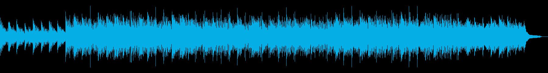 CMや企業VPに  繊細かつ前向きな曲の再生済みの波形