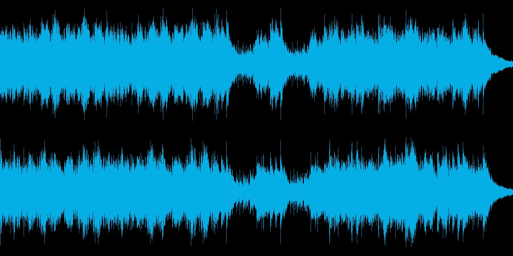 シリアスで疾走感のあるピアノ曲ループの再生済みの波形