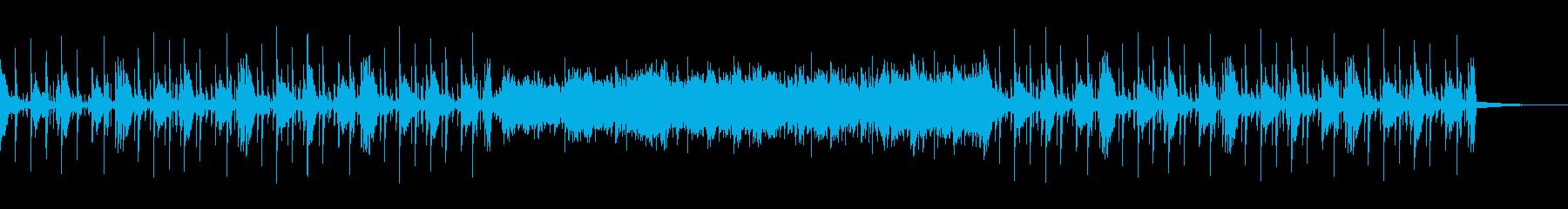 冷んやりとしたシリアスな雰囲気のBGMの再生済みの波形