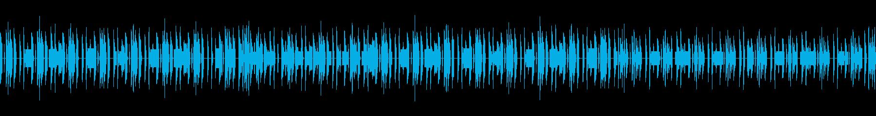 素朴な雰囲気のチップチューン楽曲の再生済みの波形