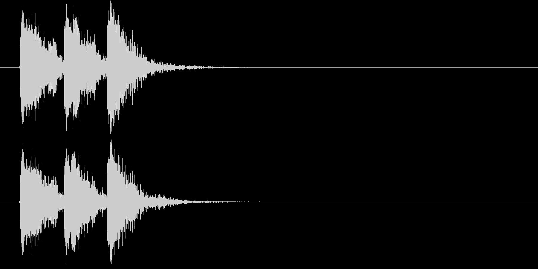 迫力のある効果音の未再生の波形