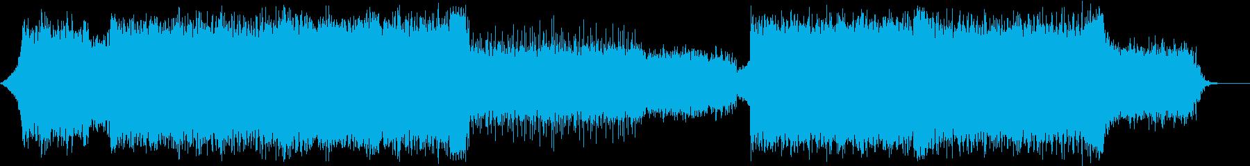 叙情的なラウドロック エンディングの再生済みの波形