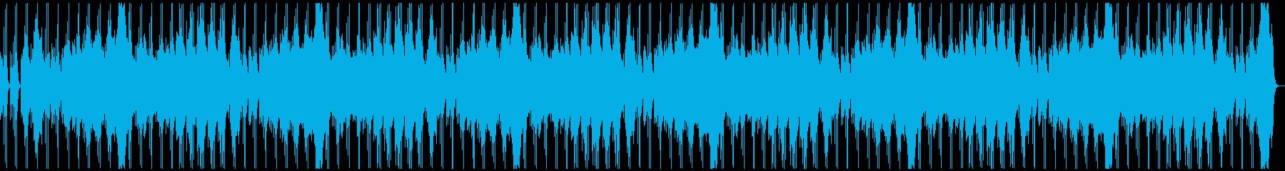 不気味に歪んだレトロな電子音のホラーLの再生済みの波形