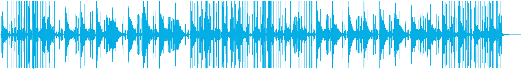 ゆったりとしたハウスミュージックの再生済みの波形