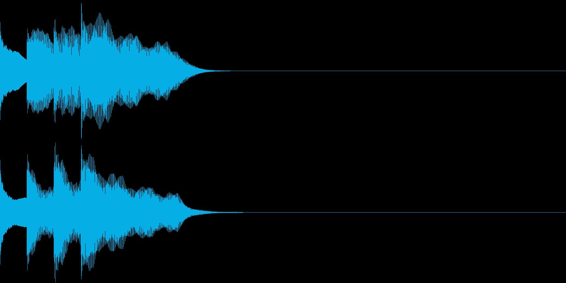多用途効果音-07A(放送チャイム上昇)の再生済みの波形