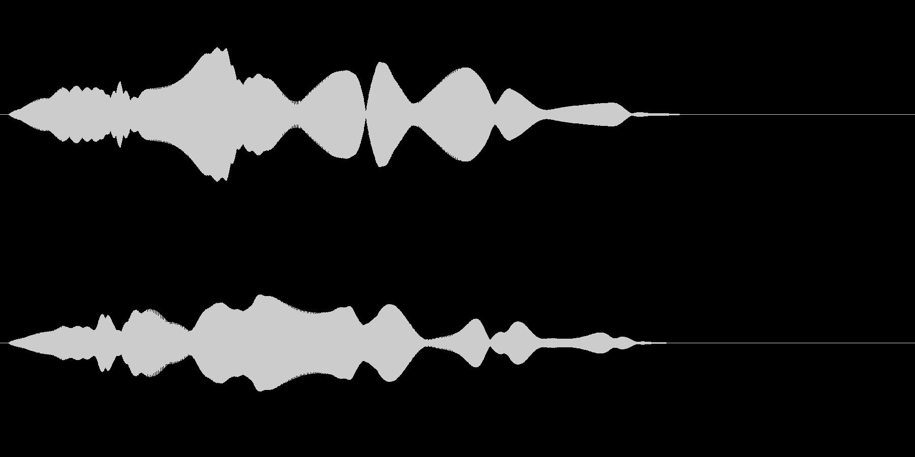 コミカルな飛行音(ふわふわ)の未再生の波形