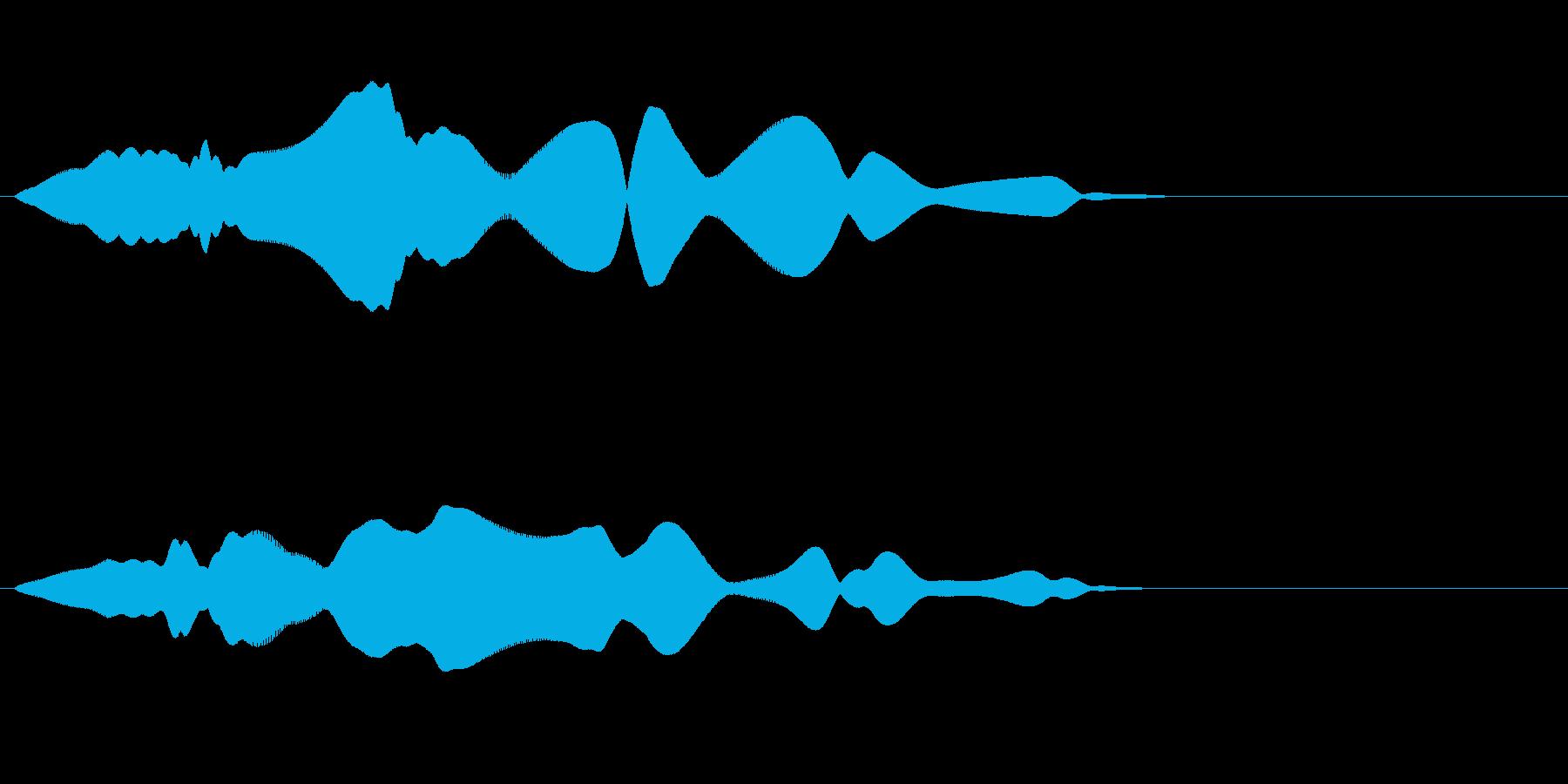 コミカルな飛行音(ふわふわ)の再生済みの波形