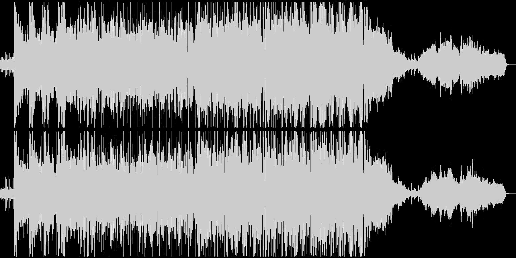 キラキラした印象のピアノのポップスの未再生の波形
