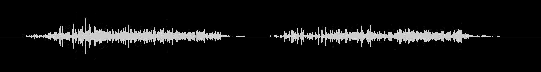 紙の裂け目-2回の未再生の波形