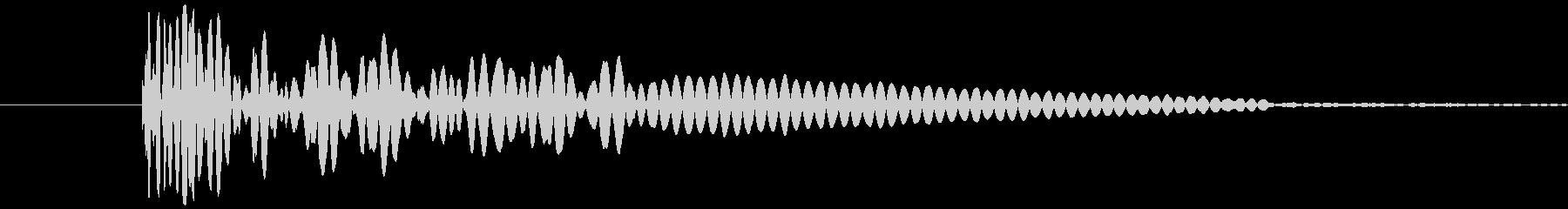 ドン(花火が打ち上がる時、爆発音)の未再生の波形