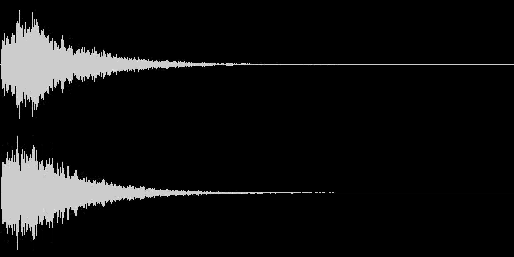 ゲームスタート、決定、ボタン音-036の未再生の波形