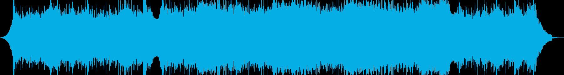 大気の深い電子の抽象的な音楽の再生済みの波形