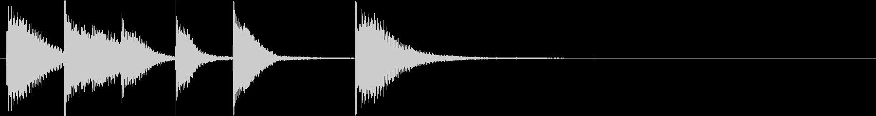 ピアノジングル 幼児向けアニメ系I-03の未再生の波形