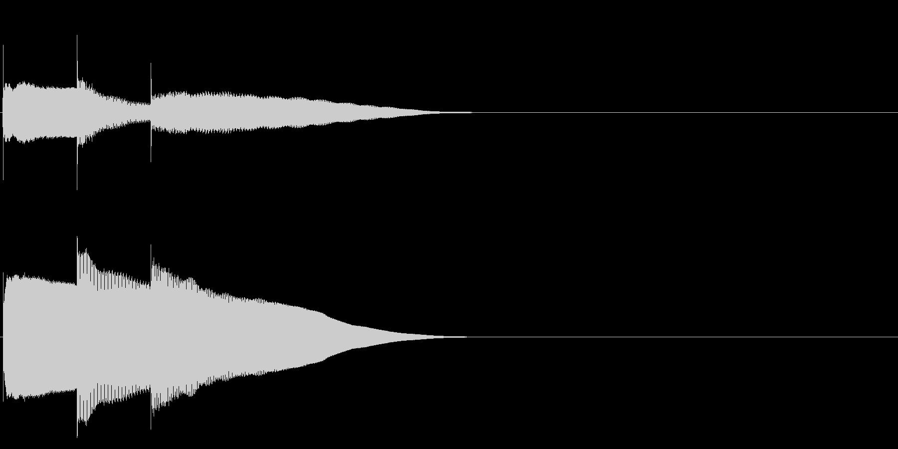 グロッケン系 決定音06(中)の未再生の波形