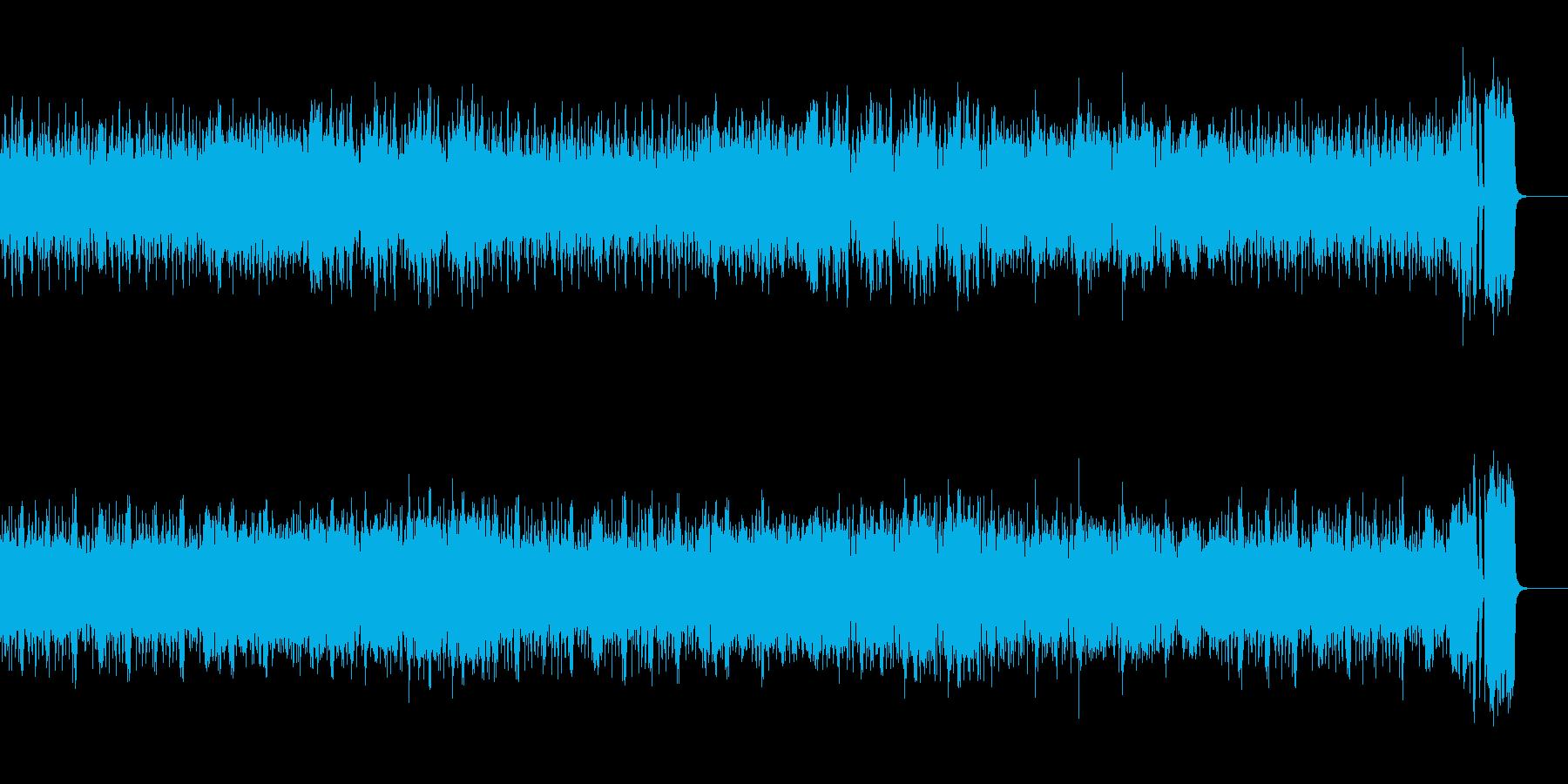 焦燥感を煽る高速アイリッシュミュージックの再生済みの波形