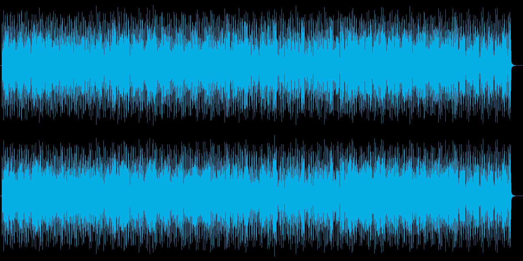ロボット感のあるシンセサイザーテクノの再生済みの波形
