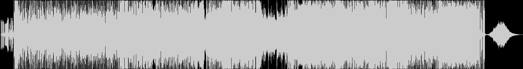スモーキーな四つ打ちファンクの未再生の波形