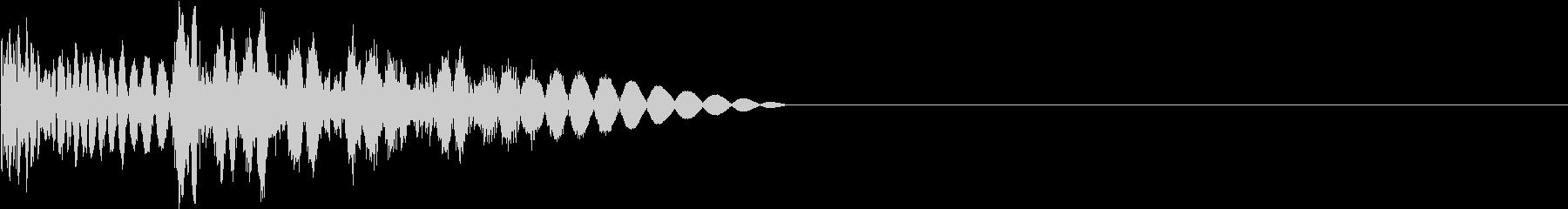 バスッ(キック・物理攻撃・横スクロール)の未再生の波形