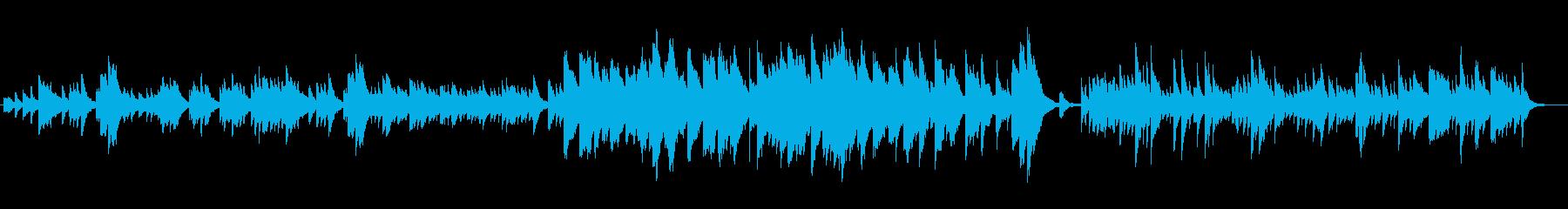 ハープのしっとり泣ける癒しのメロディの再生済みの波形