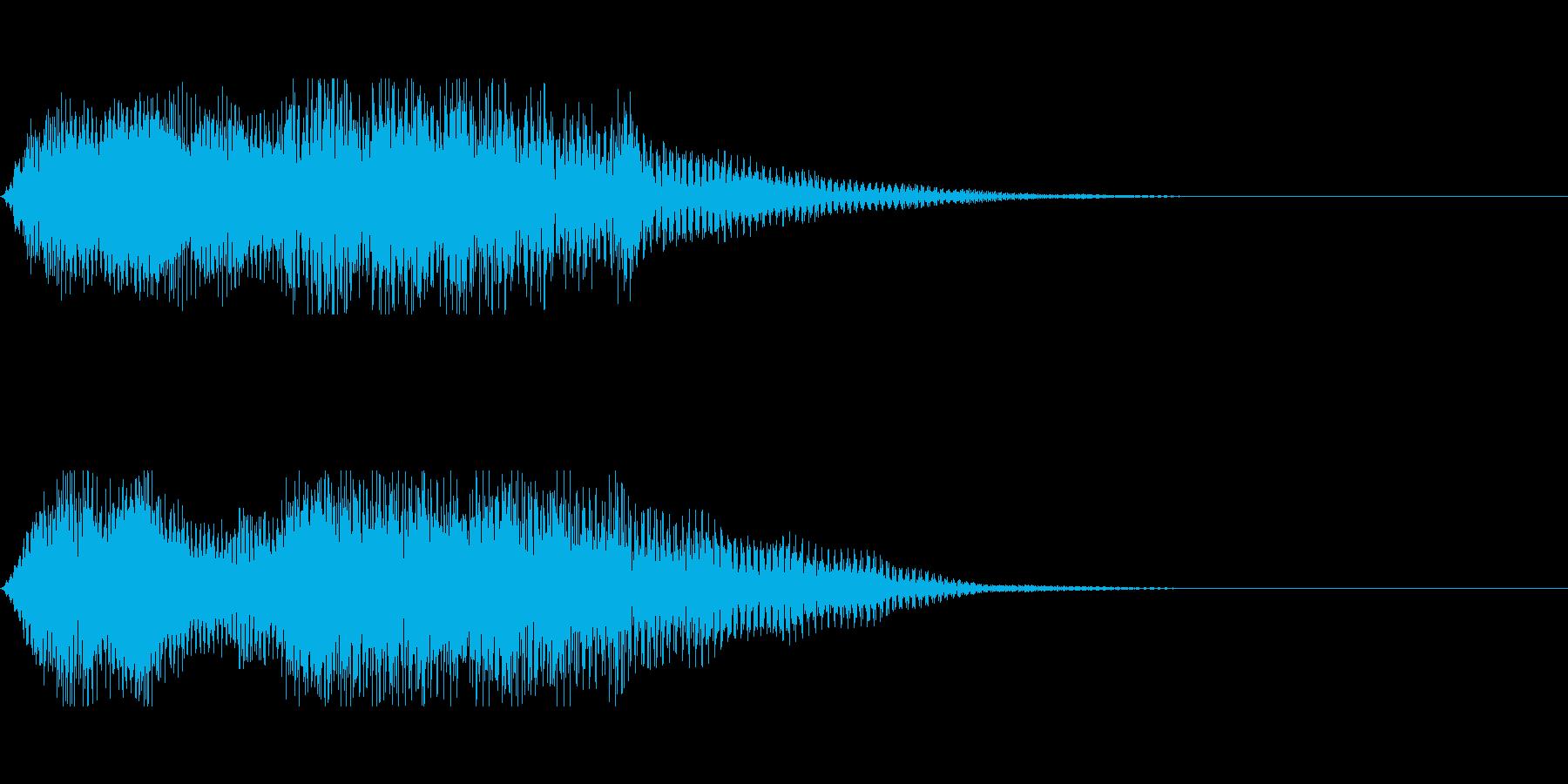 開閉音(電子音)の再生済みの波形