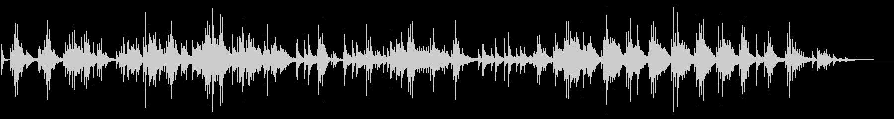 ヒーリング系 優しい旋律のピアノソロの未再生の波形