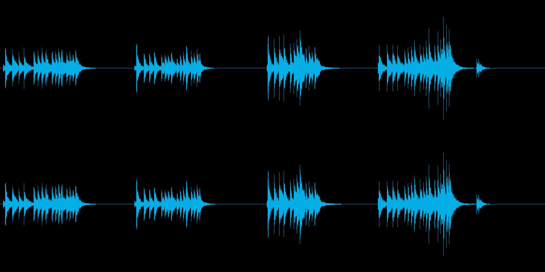 大太鼓6ウス風音ウス風音歌舞伎情景描写和の再生済みの波形