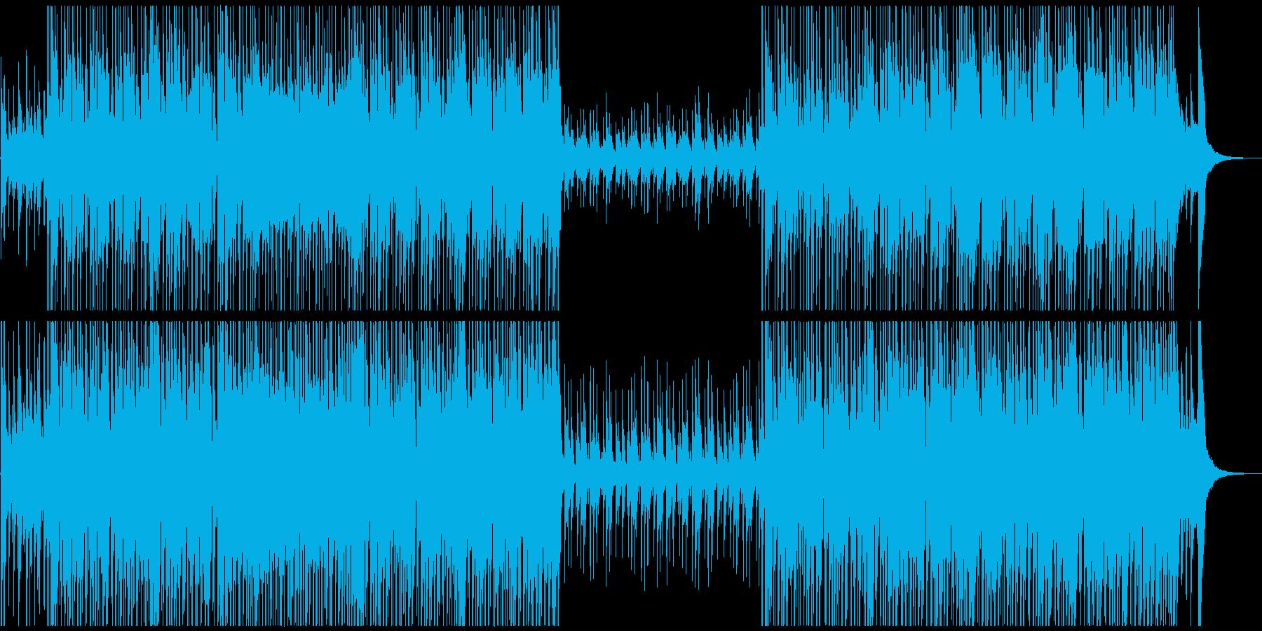 ウクレレがコミカルでかわいい楽しいBGMの再生済みの波形