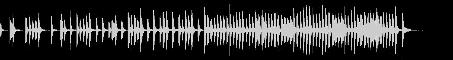 ちょっと切ない かわいいシンプルピアノ曲の未再生の波形