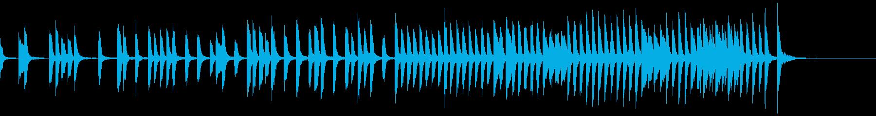 ちょっと切ない かわいいシンプルピアノ曲の再生済みの波形