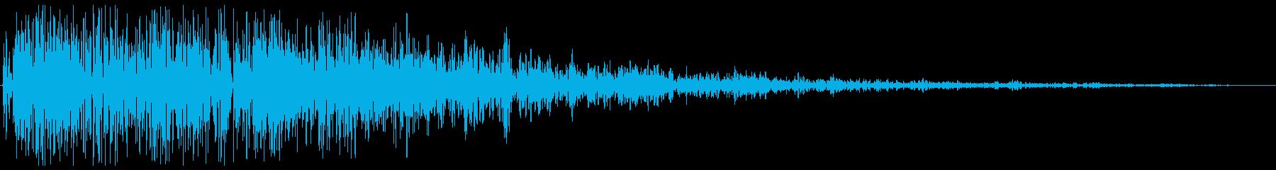 ドカーン(爆発の音)の再生済みの波形