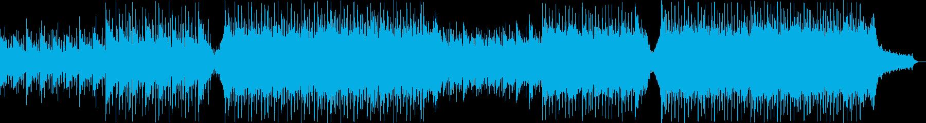 現代の企業PVに流行のコーポレート楽曲の再生済みの波形