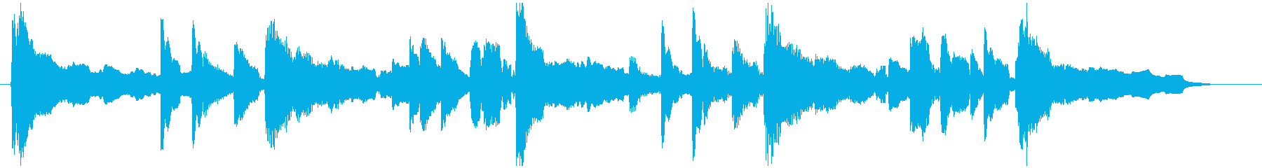 南の島・ほのぼのとした雰囲気の曲の再生済みの波形