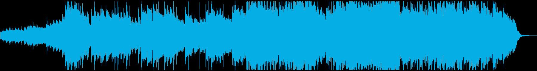 ゆったりと爽やかで壮大なジングルの再生済みの波形