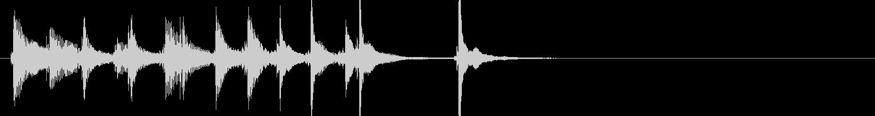 三味線106ロックっぽいリフ生音歌舞伎和の未再生の波形