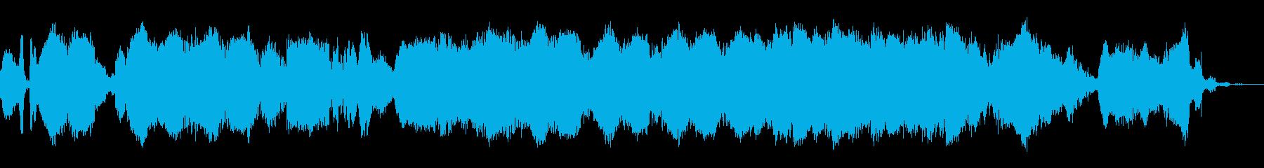 宇宙的なイメージのBGMの再生済みの波形