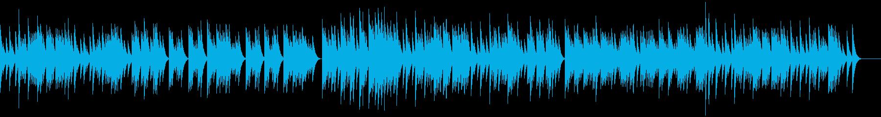 三拍子のオルゴールの再生済みの波形