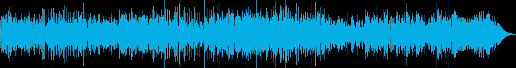 天気予報などのBGMにぴったりのボサノバの再生済みの波形