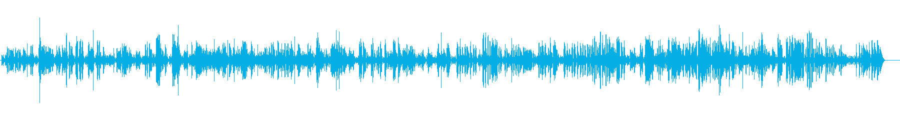 クラリネットのお洒落で陽気なJAZZの再生済みの波形