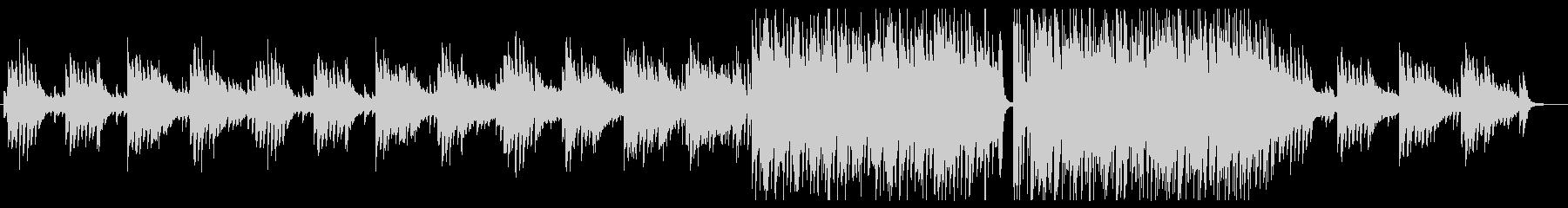 ピアノのメロディーが切ない曲の未再生の波形