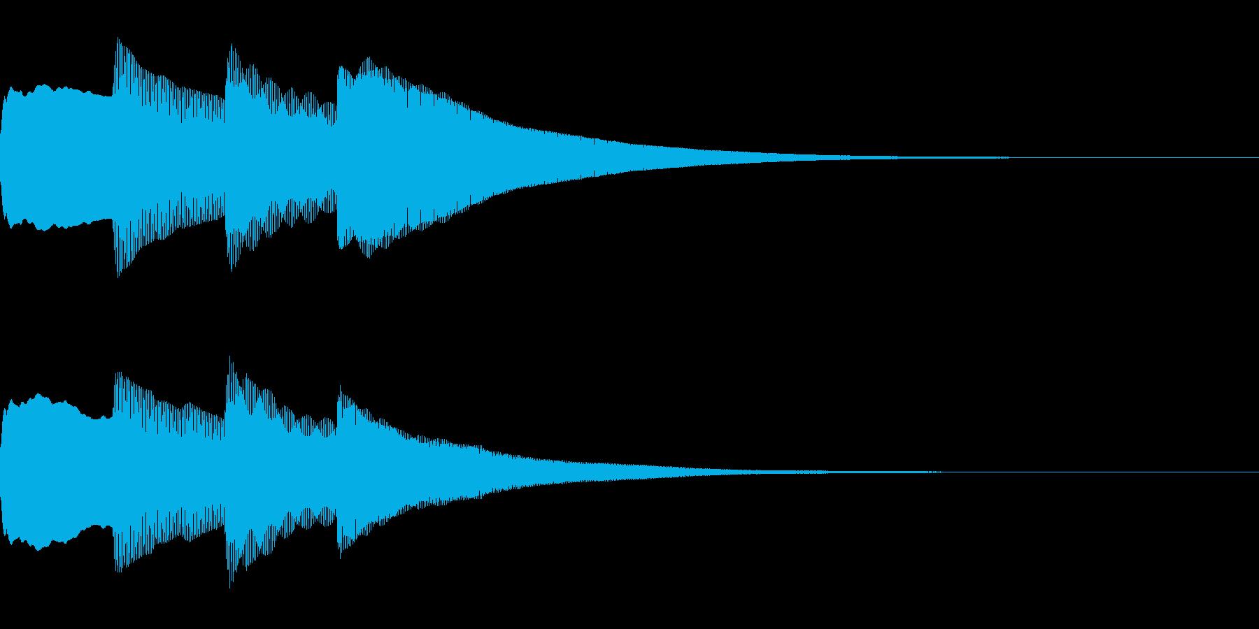 お知らせ・アナウンス音B上昇(普通)01の再生済みの波形